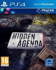 Hidden Agenda PlayLink PS4 * NEW SEALED PAL * CovSIgns