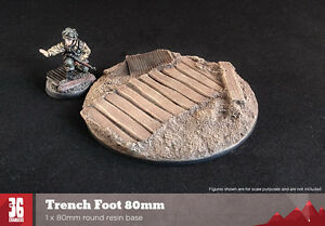 Trench Foot 80mm round resin base