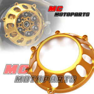 Gold Billet Dry Clutch Cover For Ducati Sport 1000 Hypermotard 1100 CC27