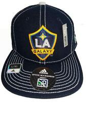 New Los Angeles LA Galaxy Adult Mens Size L/XL Adidas Climalite Flatbrim Hat $28