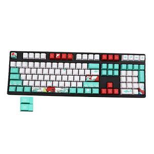 110-Key Coral Sea Ukiyo-e DYE-SUB PBT Keycaps for Most Mechanical Keyboards
