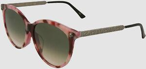 $490 Gucci GG0223SK 004 Women's Pink Optical Metal Eyeglasses Frames 57/15/150