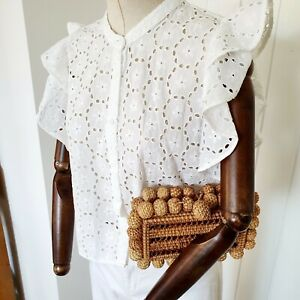 Anglaise Broderie Quality Cotton Embroidered Pretty Boxy French Blogger Top 12 M
