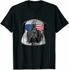 Patriotic Bullmastiff Dog Merica T-Shirt 4th of july Funny Vintage Gift For Men