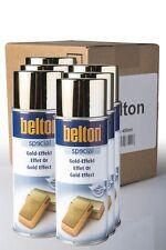 6 x Belton Gold-Effekt 0,4l Goldeffekt Goldspray Spraylack Sprühlack Gold