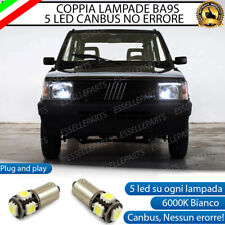 COPPIA LUCI POSIZIONE A 5 LED BA9S T4W FIAT PANDA MK1 ULTRALUMINOSI