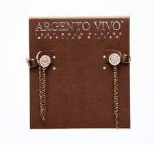 Argento Vivo Gold Crystal Stud Ear Cuff Earrings 0219