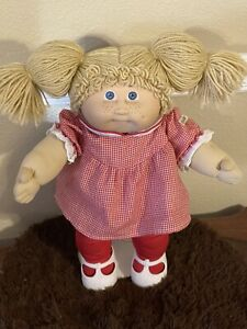 Jesmar Cabbage Patch Kid Girl,Tan Double Ponies. Blue Eyes,Freckles,Dimple,1984
