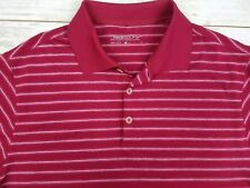 $ 75 Nike Golf Men's Dri-Fit DriFit Polo Shirt Heather Red White Stripe S Small