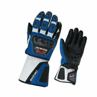 Men's Suzuki GSXR Biker Racing Motorbike Genuine Leather Riding Moto Gloves