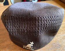 KANGOL DESIGN MENS FLAT CAP-BROWN SIZE MEDIUM-PREOWNED-SOME USE-NO TAG-V. COOL