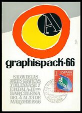 SPAIN MK 1966 BARCELONA GRAPHISPACK GRAFIK GRAPHIC CARTE MAXIMUM CARD MC CM ce96