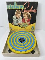 Vintage 1952 Stadium Checkers Game Marbles Schaper #300 American Toys BAKELITE