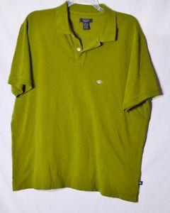 STRUCTURE Mens Green Classic Fit Polo Shirt XL Short Sleeves 100% Cotton USA