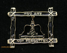 POW MIA YOU ARE NOT FORGOTTEN WAR VET HAT PIN US ARMY MARINES NAVY AIR FORCE VET