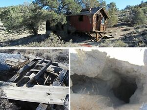 Nevada Gold Silver Mine Historic Palmetto Mining Cabin Claim Adit Shaft Chute