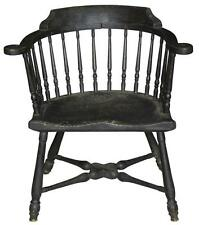 SWC-Rare Maple Low-back Windsor Armchair, RI, c.1760