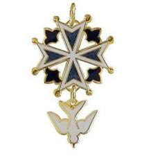 Enameled Huguenot Cross Pendant