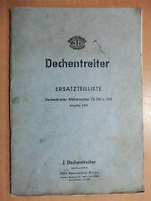Pièce De Rechange Liste dechentreiter Moissonneuses-batteuses JD 210 240 1962 également Hurth 829 K versé.