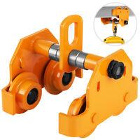 2T Push Beam Trolley Track Roller Garage Hoist Solid Steel I-Beam Track