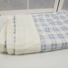 Vintage Laura Ashley Twin flat bed sheet periwinkle blue