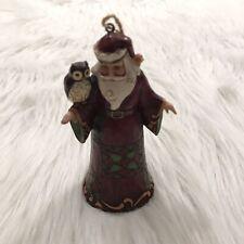Jim Shore Santa & Owl Christmas Ornament