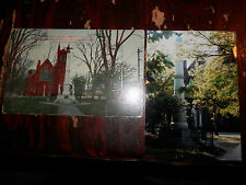 NEW HAVEN CT - CIVIL WAR - SOLDIERS MONUMENT - OLD Postcard plus MODERN PHOTO