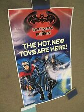 Vintage 1997 Batman & Robin Toy Store Display Banner Poster Large 60x36 RARE