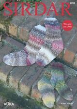 Sirdar 8003 Knitting Pattern Family Socks in Sirdar Aura Chunky