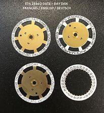 ETA 2834-2 disc disk day date English Diske German Disque quantième date jour