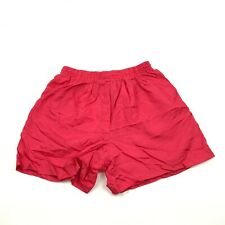 Vintage Lavon Sport Course Short Femme Taille M Taille Haute Rouge Runner Nylon