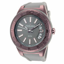 Jacques Lemans Men's Miami 50mm Gray Dial Silicone Watch
