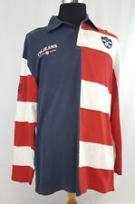 Tommy Hilfiger Long Sleeve Rugby Polo XL Stripe Colorblock Spell out 90s