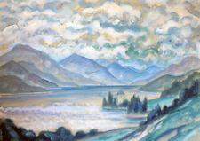 Emil Betzler Frankfurt Expressionism Salzburg Fuschl Lake Castle Salzkammergut