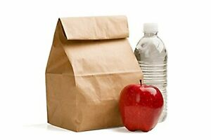 Durable Size Small Brown Paper Lunch Bags By Green Direct Pack of 100