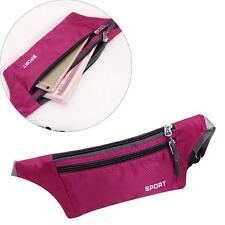Waterproof Bum Waist Bag Handy Travel Sport Money Belt Zipper Pouch Rosy Red UP