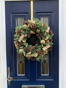 Fresh Christmas Holly Ring Wreath Decoration Natural Fruit Ring 18 inches Limes