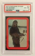 1977 TOPPS STAR WARS STICKER CARD - SERIES 2: RED - #19 THE WOOKIEE - PSA 6