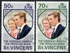 St. Vincent 1973 Royal Wedding Used Set  #R659