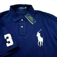 Polo Ralph Lauren Big Pony Custom Slim Mesh Solid Polo Shirt 2XL Number 3