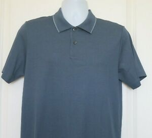 THEORY Men's Polo Shirt Short Sleeve Air Force Lagos Size Small NWT