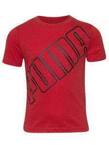 Puma Slanted Logo T-Shirt Little/Big Boy's Short Sleeve