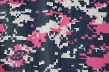 """Navy Pink Digital Camo Print Quilt Fabric Craft Apparel Upholstery 45""""W #9959N"""