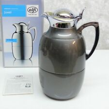 Alfi Juwel Vacuum Insulated THERMAL CARAFE DRINK PITCHER Lacquered Metal Grey 1L