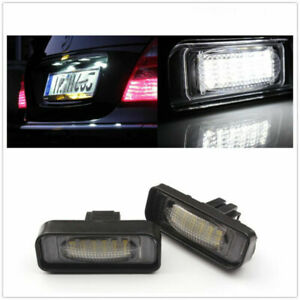 LED Number Lamp License Plate Light For Benz W220 S320 S420 S430 1999-2005 MO