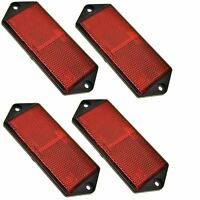 Red Large Rectangular Rear Reflector Pack of 4 Trailer Fence / Gate Post TR073
