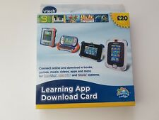 Vtech innotab 1,2,3, 3s LEARNING APP download card 2x cards worth £40
