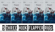 3 Hook Flapper Rigs X 5 Sea Fishing Rigs