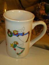 VTG Royal Norfolk Greenbrier Intl. Tall Coffee Tea Cocoa Mug Cup White w/ Angels