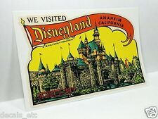 Disneyland, California Vintage Style Travel Decal / Vinyl Sticker, Luggage Label